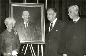 Presentation of the portrait of Chief Justice John W. Eggleston, with Governor Mills Godwin and Chief Justice Lawrence W. I'Anson
