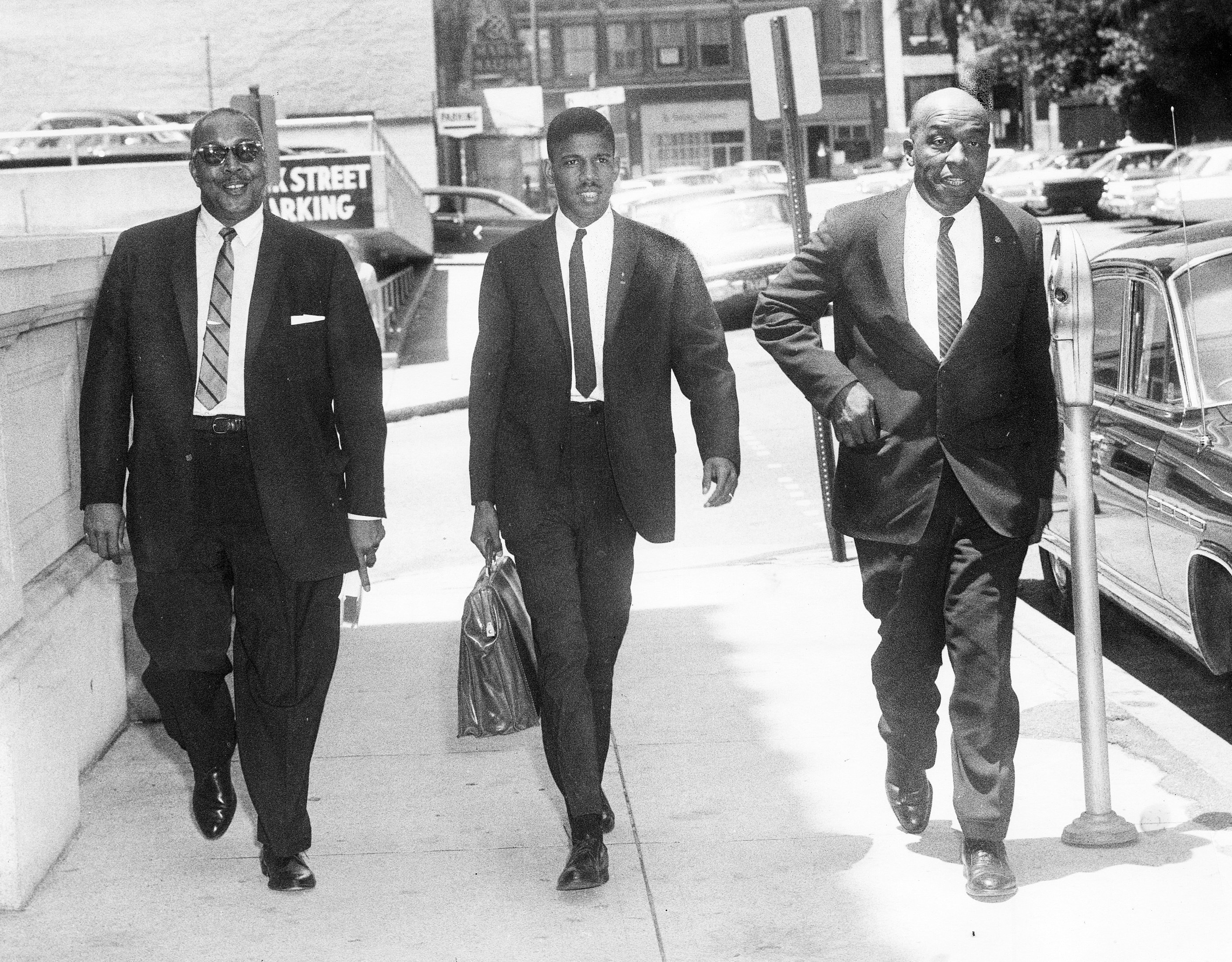 Three NAACP Lawyers Involved in the Prince Edward School Litigation -- They are (from left) Frank D. Reeves, Henry L. Marsh III and S. W. Tucker. June 18, 1964