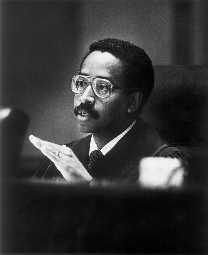 Judge James W. Benton Jr., Court of Appeals of Virginia, September 9, 1987. Courtesy of the Richmond Times-Dispatch.